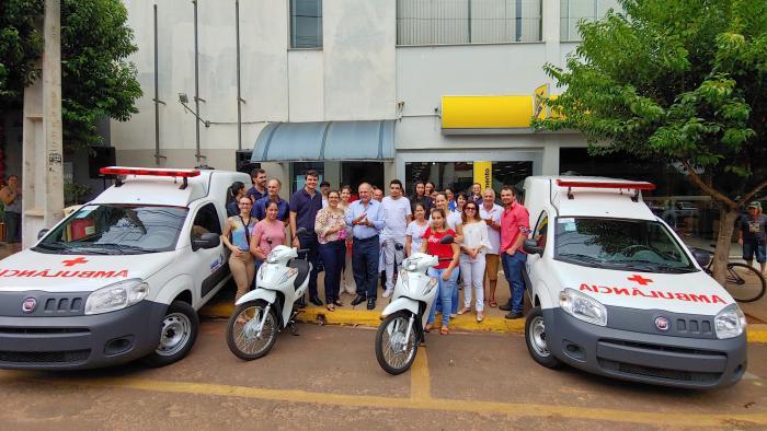 Através do Governo Federal, município recebe novos veículos para atender a saúde