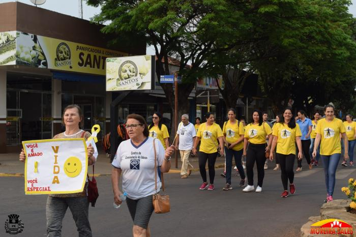 Setembro Amarelo: Secretaria de Saúde realiza caminhada contra o suicídio
